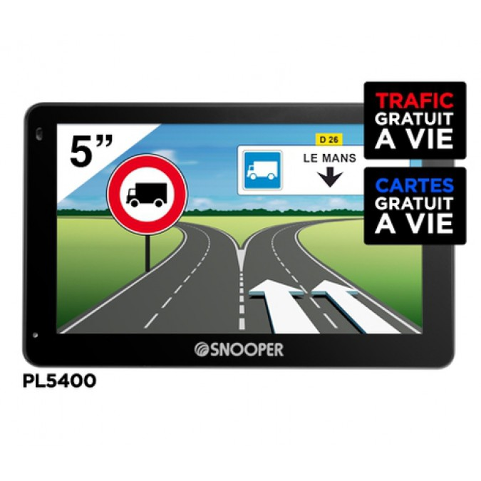 gps camion pl5400 avec dvr snooper. Black Bedroom Furniture Sets. Home Design Ideas